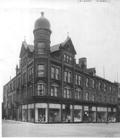 Wrights first store in Sussex Street, Middlesbrough, notice that this building also originally featured a tower.