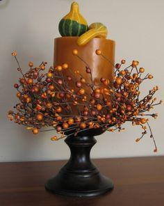 Thanksgiving Candle Wreaths The Pumpkin Pie by twoinspireyou