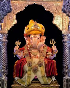 Image may contain: one or more people Shri Ganesh Images, Ganesh Chaturthi Images, Ganesha Pictures, Happy Ganesh Chaturthi, Lord Ganesha Paintings, Lord Shiva Painting, Shiva Art, Ganesha Art, Ganpati Bappa Wallpapers