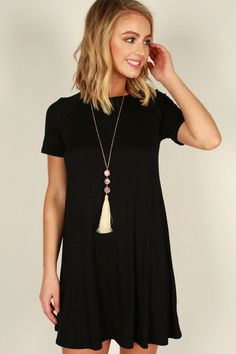 What's Not To Love Shift Dress in Black