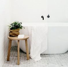 Pretty white bathroom
