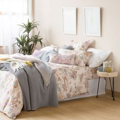 Pink Floral Print Bedding