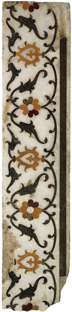 Mughal pietra dura marble frieze panel, North West India, 17th Century.