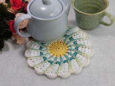 "Spiral Pot mat - at tea time / Pot stand - at meal time / Circle Pot holder / Wall decor / Housewares / Kitchen - 5.6""(14cm) by YuminaCafe, ¥1770"