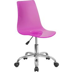 Contemporary Acrylic Transparent Swivel Task Chairs- 6 COLOR OPTIONS – Creative Space Studio