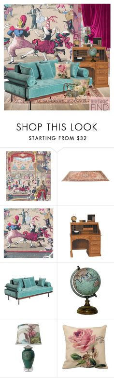 """Vintage Find"" by nicolevalents ❤ liked on Polyvore featuring interior, interiors, interior design, home, home decor, interior decorating, CABARET, Cole & Son, DutchCrafters and Kravet"