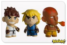 Toy art dos personagens de Street Fighter