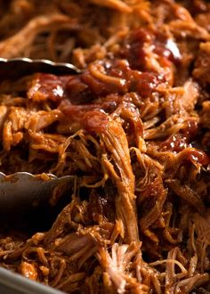 Close up of Pulled pork with BBQ Sauce Pulled Pork Bbq Sauce, Easy Pulled Pork, Making Pulled Pork, Pulled Pork Recipes, Barbecue Pulled Pork, Recipes With Bbq Sauce, Crock Pot Pulled Pork, Best Pulled Pork Recipe, Chicken Recipes