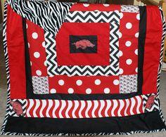 Arkansas Razorback Blanket.