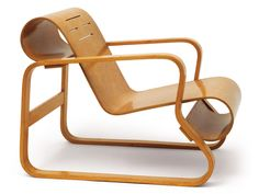 Alvar Aalto Paimio chair, 1931-32; bent plywood, bent laminated birch, solid birch