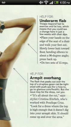 Arms underarms flab workout