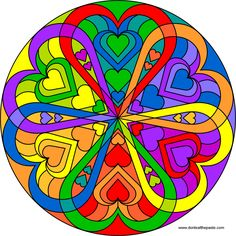 "Heart mandala: Created by Shala in honor of Loving Day (""On June 12, 1967 in the Loving vs. Virginia case brought before the Supreme Court, Loving won. The decision made it clear that it's unconstitutional to deny people the right to marry based on race.  ""Under our Constitution, the freedom to marry, or not marry, a person of another race resides with the individual and cannot be infringed by the State"".- Chief Justice Earl Warren)"