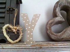 Freestanding Wooden Wedding Letter 'Y'  20cm  by LoveLettersMe, £8.95