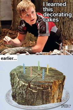 One might wonder how Peeta learned to paint trees from decorating cakes..... :/