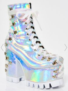 Free, fast shipping on Candy Night Terror Platform Boots at Dolls Kill, an online boutique for rave & kawaii shoes. Shop Y. shoes, platform sneakers, & platforms here. Galaxy Converse, Style Grunge, Soft Grunge, Platform Boots, Platform Sneakers, Shoes Sneakers, Cute Shoes, Me Too Shoes, Converse Chuck Taylor