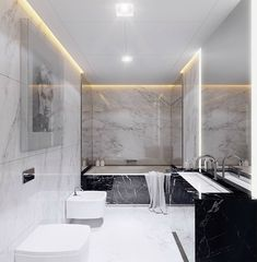 marble minimalist style bathroom Visual Studio