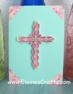 Quilled Cross Card for Easter.
