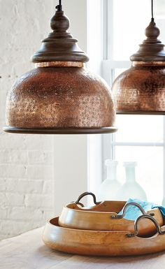 lend an antique vibe to your dcor with our brilliantly weathered micah pendant copper pendant