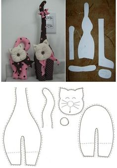 Pets, Home & Garden: Ideal toys for small cats Sewing Toys, Sewing Crafts, Sewing Projects, Fabric Toys, Fabric Crafts, Doll Patterns, Sewing Patterns, Ideal Toys, Cat Quilt
