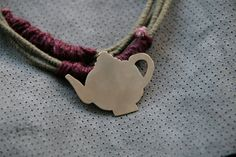 Excited to share the latest addition to my #etsy shop: Teapot Necklace, Silver Colour Teapot Pendant, Teapot Lovers, Cotton cord, Linen Cord, Green Cord, Purple cord, handmade, quirky jewelry http://etsy.me/2zWGGKH #jewelry #necklace #silver #women #green #fooddrink #c