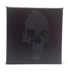 Black Skull Painting by GirlBurkeStudios on Etsy, $20.00