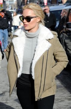 Margot Robbie showed off her winter style in a Shearling-lined Cidji coat by IRO Paris.   • Celebrity WOTNOT  --------------- For further information on these stories and images please visit www.celebritywotnot.com. These Images are ©Atlantic Images. No use without permission.