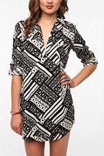 Sparkle & Fade Geo Shirtdress