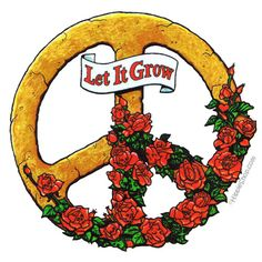 Let It Grow 2-Sided Window Sticker on Sale for $3.99 at HippieShop.com