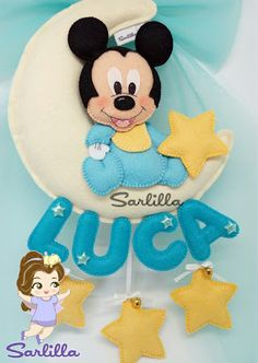 Clown Party, Baby Mobile, Mickey And Friends, Disney Crafts, Diy Pillows, Mobiles, Felt Crafts, Minnie Mouse, Banner