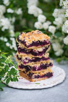 Blueberry Crumb Bars - Cooking Classy
