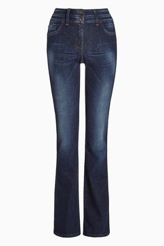 Lift Bootcut-Jeans  Dunkelblau: 91% Baumwolle, 5% Polyester, 4% Elasthan. Mittelblau: 75% Baumwolle, 23% Polyester, 2% Elasthan.  ...
