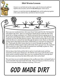 Dirt Worm Sunday School Lesson.jpg 1,019×1,319 pixels