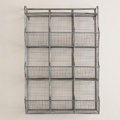Made of galvanized metal with nine storage cubbies, our industrial-style wall unit is ideal for organizing a variety of supplies and essentials in one compact space. Stylish, versatile and easy to install, it's a great fit for any room from the entryway to the home office.