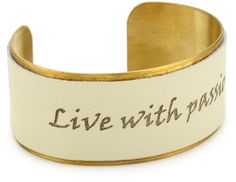 """Dillon Rogers """"Spiritual Bands """" Brass with Leather Cuff Live with Passion Dillon Rogers. $36.00. Our quality leather is embossed with a word or design. Made in United States. Brass cuff with leather one size fits all"""