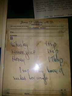 Vintage pediatric cough syrup