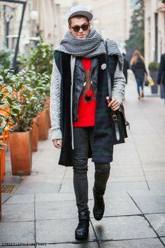 men's fashion - knits #streetstyle #men