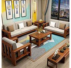 Corner Sofa Design, Living Room Sofa Design, Sofa For Living Room, Living Room Sets, Sofa Furniture, Furniture Design, Wooden Living Room Furniture, Sala Set, Wooden Sofa Set Designs