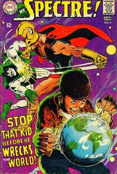 The Spectre (Jun cover by Neal Adams DC comics Superman, Batman, Dc Comic Books, Comic Book Covers, Star Comics, Dc Comics, Horror Comics, The Spectre, Justice Society Of America