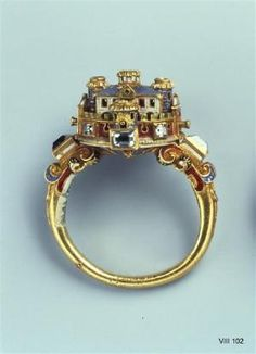Ring with Castle  maybe Italian, 2nd Half of 16th century by cheri