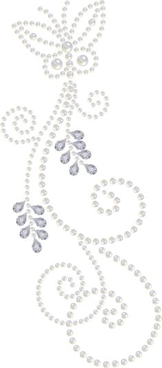 Another Pearl-and-Diamond clipart, nice swirls...
