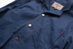 Freenote Cloth Lightweight Spring Jacket | Workers Jacket in Vintage Twill | Japanese indigo dobby fabric | 100% cotton | Custom metal hardware from Kentucky | Made in USA | Custom pockets | $260