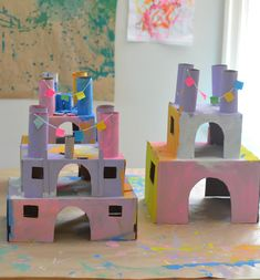 make these castles from recycled materials #kids #kidscrafts