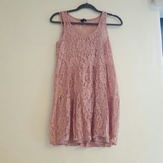American Eagle Lace Babydoll Dress Pink lace babydoll dress from AE. American Eagle Outfitters Dresses Mini