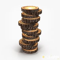 This wooden lamp made of logs is beautiful, but making it yourself will not be easy… But in any case, it can serve as an inspiration for your future DIY.     Buy Now  #Diylighting #Tutorial #Woodworking
