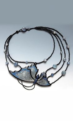 Eugena Topina - Spread your Wings necklace. Made using polymer clay.