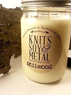 All Natural Hand Poured Soy Candles Soy Candle by knitssoyandmetal