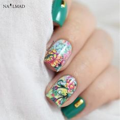 Cheap nail transfer stickers, Buy Quality nail transfer directly from China nail art stickers Suppliers: 1 sheet NailMAD Floral Flower Nail Water Decals Nail Transfer Stickers Landscape Painting Nail Art Sticker Decoration Simple Nails Design, Nail Design Spring, Feather Nail Art, Dot Nail Art, Nail Water Decals, Nail Decals, Nail Art Brushes, Nail Art Tools, Uv Nails