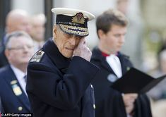 Respectful: Britain's Prince Philip, the Duke of Edinburgh visits the Field of Remembrance in the grounds of Westminster Abbey in central London on Thursday