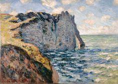 Claude Monet The Cliff Of Aval Etr Tat...