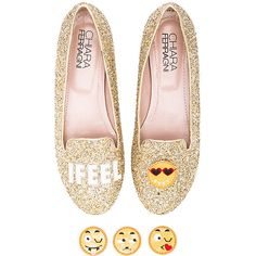 Chiara Ferragni I Feel Flat Shoes (£195) ❤ liked on Polyvore featuring shoes, flats, flat pumps, flat shoes, leather slip on shoes, flat heel shoes and flat slip on shoes